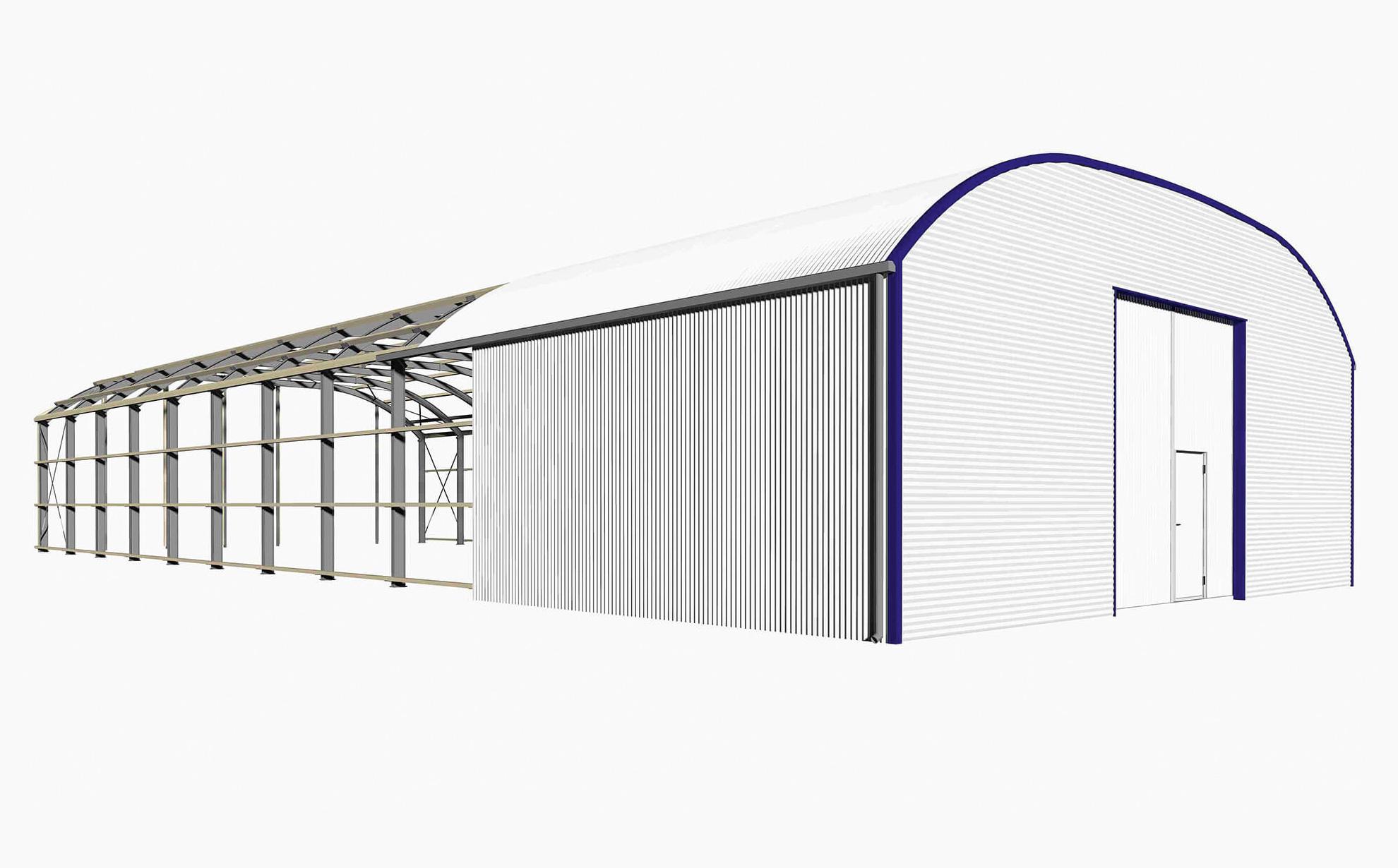 LS-Lagerhallen Runddach Schema