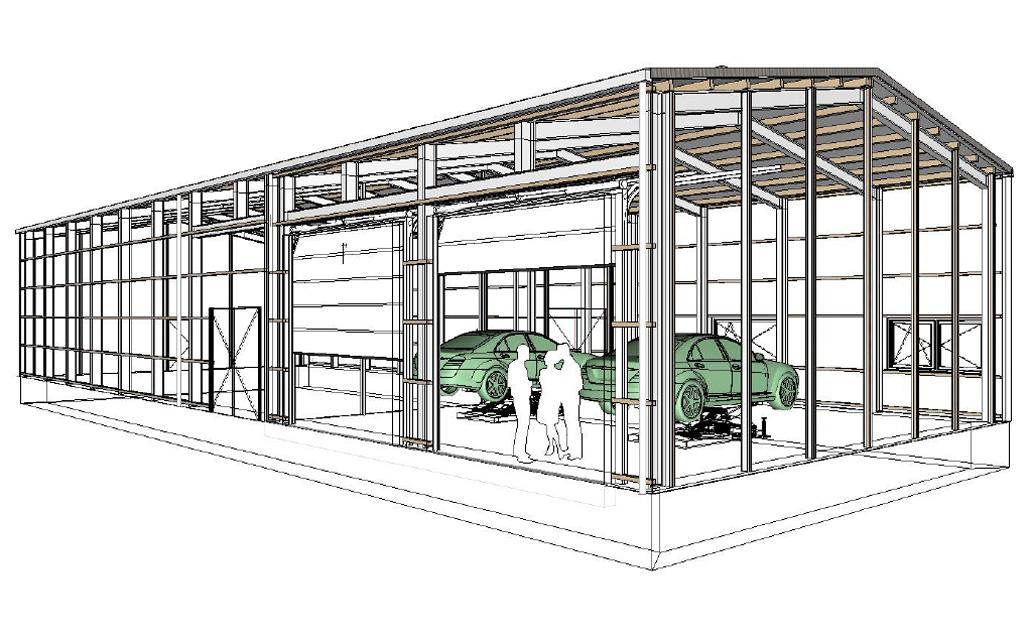 Reifenlagerhalle Werkstattbereich