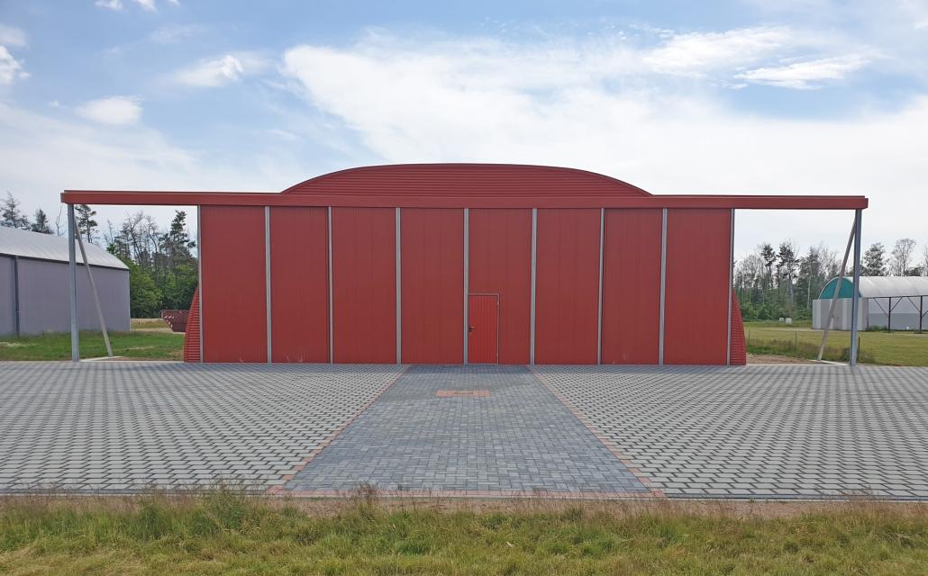 Hangar Flugzeughalle 16 x 25 m